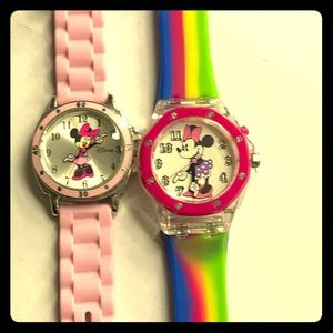 Minnie Mouse Watches-lot of 2